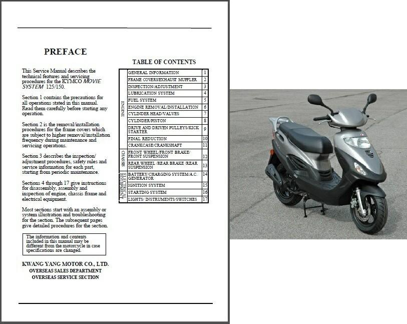 kymco movie xl 125 150 scooter service and 50 similar items rh bonanza com Kymco Spade Kymco K-Pipe