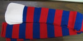 CLOWN OR SPORTS SOCKS OVER THE KNEE RED & BLUE STRIPES - $12.00