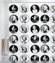 Marilyn Monroe Adorable Design Vintage Style 180X180cm PVEA Shower Curta... - $27.99