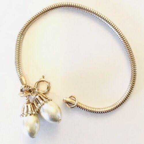 Vintage Park Lane Gold Tone Faux Pearl Bracelet