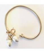 Vintage Park Lane Gold Tone Faux Pearl Bracelet - $14.45