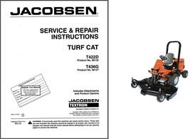 Jacobsen Turf Cat T422D T436G Repair Service Workshop Manual CD - TurfCat Mower - $12.00