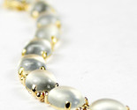 B003C, 10x8mm Moonstone, 10KY Gold Bracelet