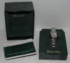Ladies Bulova Marine Star 100 m Quarts Stainless Steel Band Wristwatch NIB - $160.00