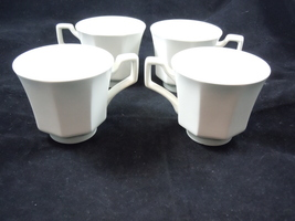 Johnson Brothers Heritage White Octagon Ironstone Coffee Cups Set of 4   - $8.99