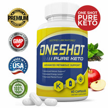 Natural One Shot Pure Keto Advanced Boost Weight Loss Diet Pills BHB Org... - $29.04
