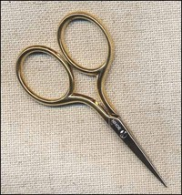 "Gilt Handle Bohin 2.75"" sewing embroidery scissors cross stitch - $17.90"