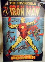 "Vintage like Wood Marvel Comics The Invincible Iron Man  19""x13"" Wall Decor - $29.99"