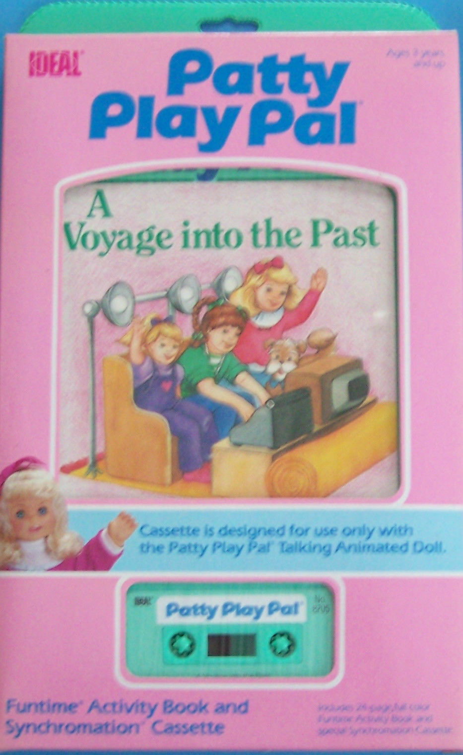 1987 IDEAL TALKING ANIMATED  PATTY PLAY PAL A VOYAGE INTO THE PAST BOOK CASSETTE - $18.81