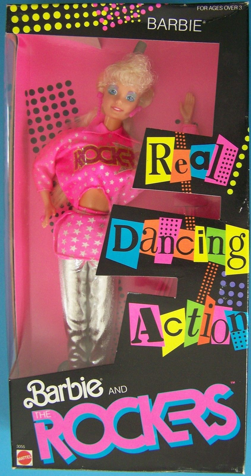 Vintage  © Mattel Inc.1986 BARBIE & THE ROCKERS DOLL Dancing Action   #3055 NRFB
