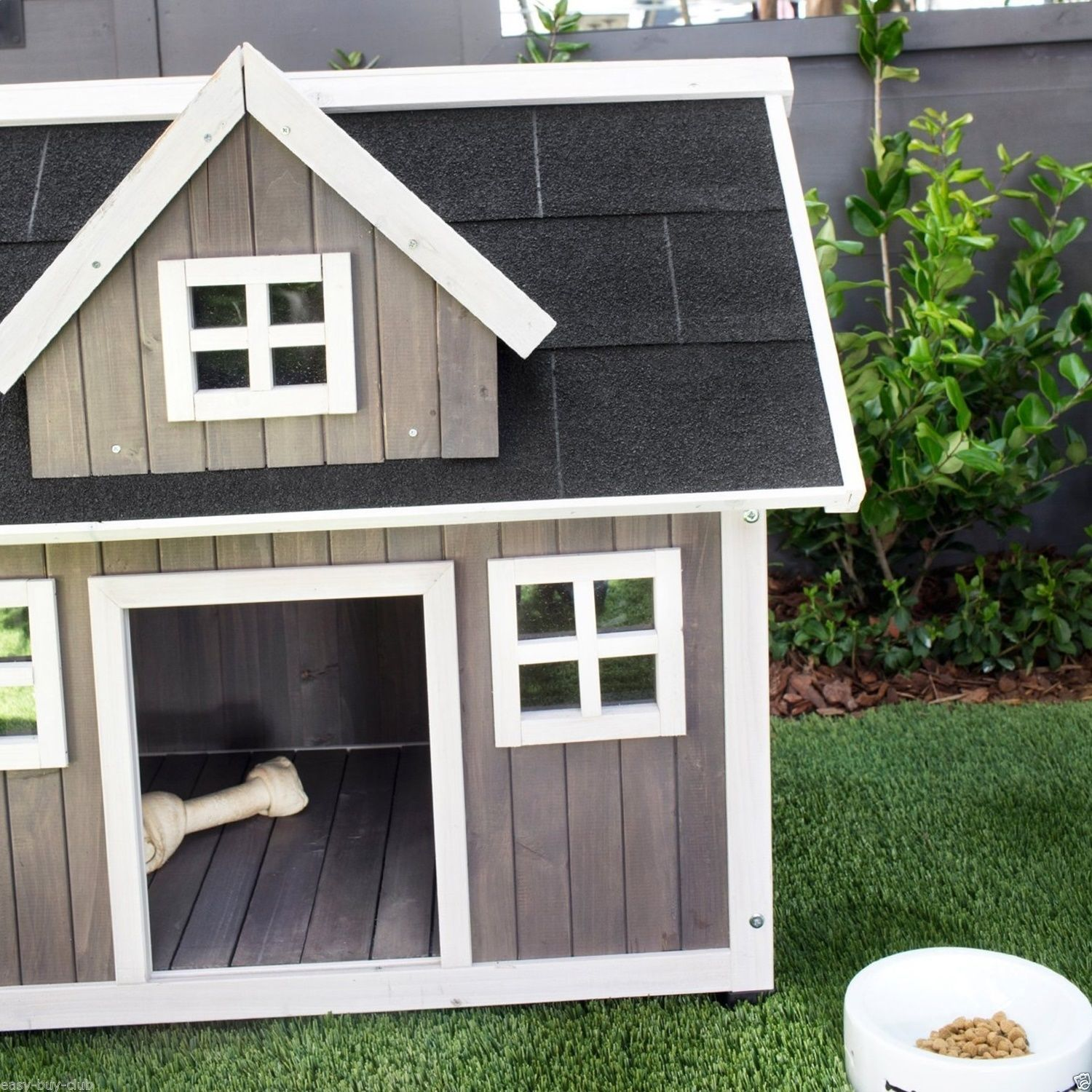 Dog cat house small pet kennel outdoor all weather durable for All weather dog kennels