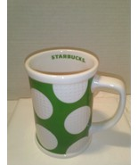 Starbucks Golf Ball Coffee Mug 2007 Green White Dimpled 16 oz. - $19.79