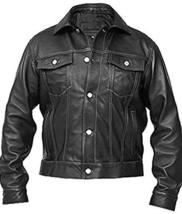 Windy Denim Men's Black Brando Leather Jacket image 1