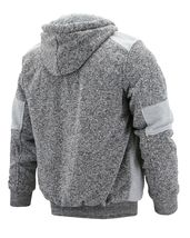 Men's Two Tone Warm Soft Sherpa Lined Moto Quilted Zipper Fleece Hoodie Jacket image 11