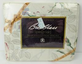Vintage NIP Springmaid Bill Blass Romance Percale Twin Fitted Sheet Flor... - $16.83
