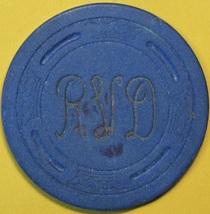 $1 Casino Chip. RVD, Stockton, CA. 1955. S36. - $9.50