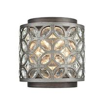 Elk 12160/2 Rosslyn Wall Sconce, 2-Light 120 Total Watts, Weathered Zinc... - $6.055,94 MXN