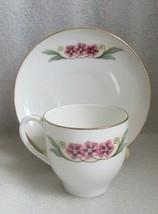 Antique FLORAL LEAF Hand Paint ART DECO DEMITASSE CUP SAUCER SET BAVARIA... - $9.89