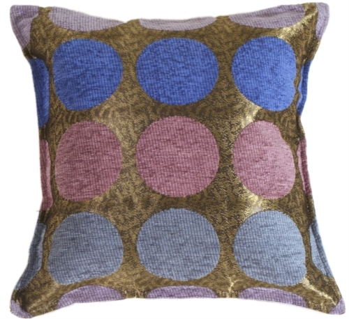Pillow Decor - Multicolor Spheres Blue Pillow