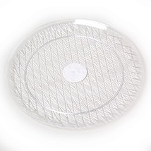 2 Round Crystal Clear 14 Inch Serving Trays - €3,99 EUR