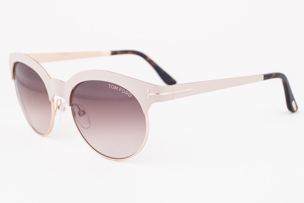112638a672 S l1600. S l1600. Previous. Tom Ford Angela White Gold   Brown Gradient  Sunglasses TF438 28F