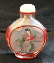 Reverse Painted Glass Chinese Snuff Bottle - $20.00