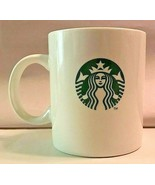 Starbucks White Coffee Mug Cup Old Classic Mermaid Siren Logo 2014 11.5 oz. - $11.85