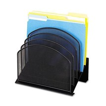 Safco® Onyx™ Mesh Desk Organizer with Tiered Sections - $97.88