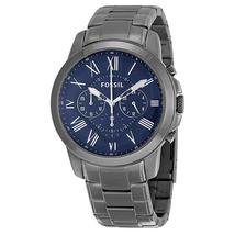 Fossil Grant Chronograph Dark Blue Dial Smoke Ion-plated Men's Watch FS4831 - $187.68