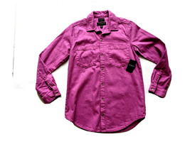 Lucky Brand Button Down Boyfriend Shirt -  7WD11286 - Radient Orchid - XS - $34.65