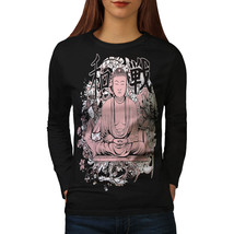Buddha Meditation Fantasy Tee Hindu God Women Long Sleeve T-shirt - $14.99