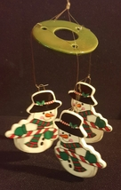 Vintage Russ Berrie Holiday Snowman Windchime Christmas Ornament - $10.49