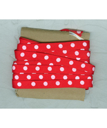 6+ yds. Red Polka Dot Grosgrain Ribbon 3/8 Inch Wide Sewing Craft - $9.00