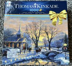 "Thomas Kinkade Holiday Evening Sleigh Ride Jigsaw Puzzle - 1000 Piece - 27""x20"" - $29.97"