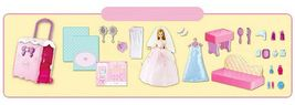 Mimi World Wedding Mimi Bedroom Doll Suitcase Carrier Case Roleplay Toy Playset image 3