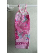 Follow Your Heart Valentine Hanging Towel - $3.40