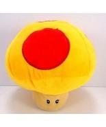 "Super Mario Plush Banpresto Yellow Red Mushroom Stuffed 7"" US Seller Nin... - $18.80"