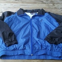 Men's Blue & Black Full Zip Up Jacket. Size Large  - $27.42