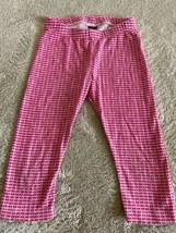 Tea Collection Girls Pink White Geometric Pants 5T - $6.43