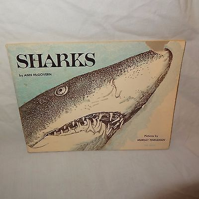 Sharks Scholastic Paperback Book 1976 Nature Home School Ann McGovern TW 3054