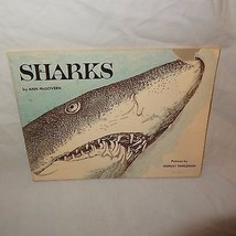 Sharks Scholastic Paperback Book 1976 Nature Home School Ann McGovern TW 3054 - $9.99