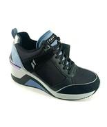 Skechers 74390 Black/Blue Memory Foam Wedge Lace Up Fashion Sneaker  - $85.00