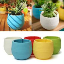 Green Cactus Succulents Plant Flower Pot Plastic Round Pots Garden Home Decor - $2.15