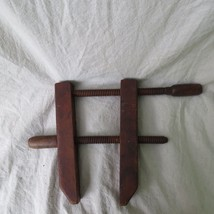 Antique Old Vintage All Wood Wooden Vice Glueing Clamp - $24.99