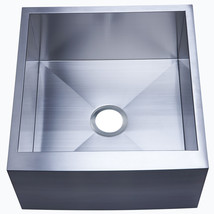 Denver Stainless Steel Single Bowl Farm house Kitchen Sink,Satin Nickel - $308.73