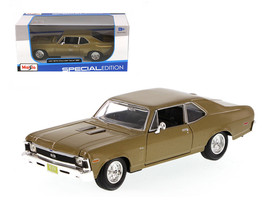 1970 Chevrolet Nova SS Gold 1/24 Diecast Model Car by Maisto - $50.99