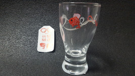 Red Snapper Cup Sake Glass Ochoko Made in Japan Sasaki Glass - $21.49
