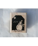JOY Snowman Rubber Stamp by Stampin' Up!  2005 ... - $2.99