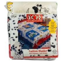 Vtg DISNEY 101 Dalmatians Fashion Blanket Twin Full 72x90 Country Farm U... - $49.49