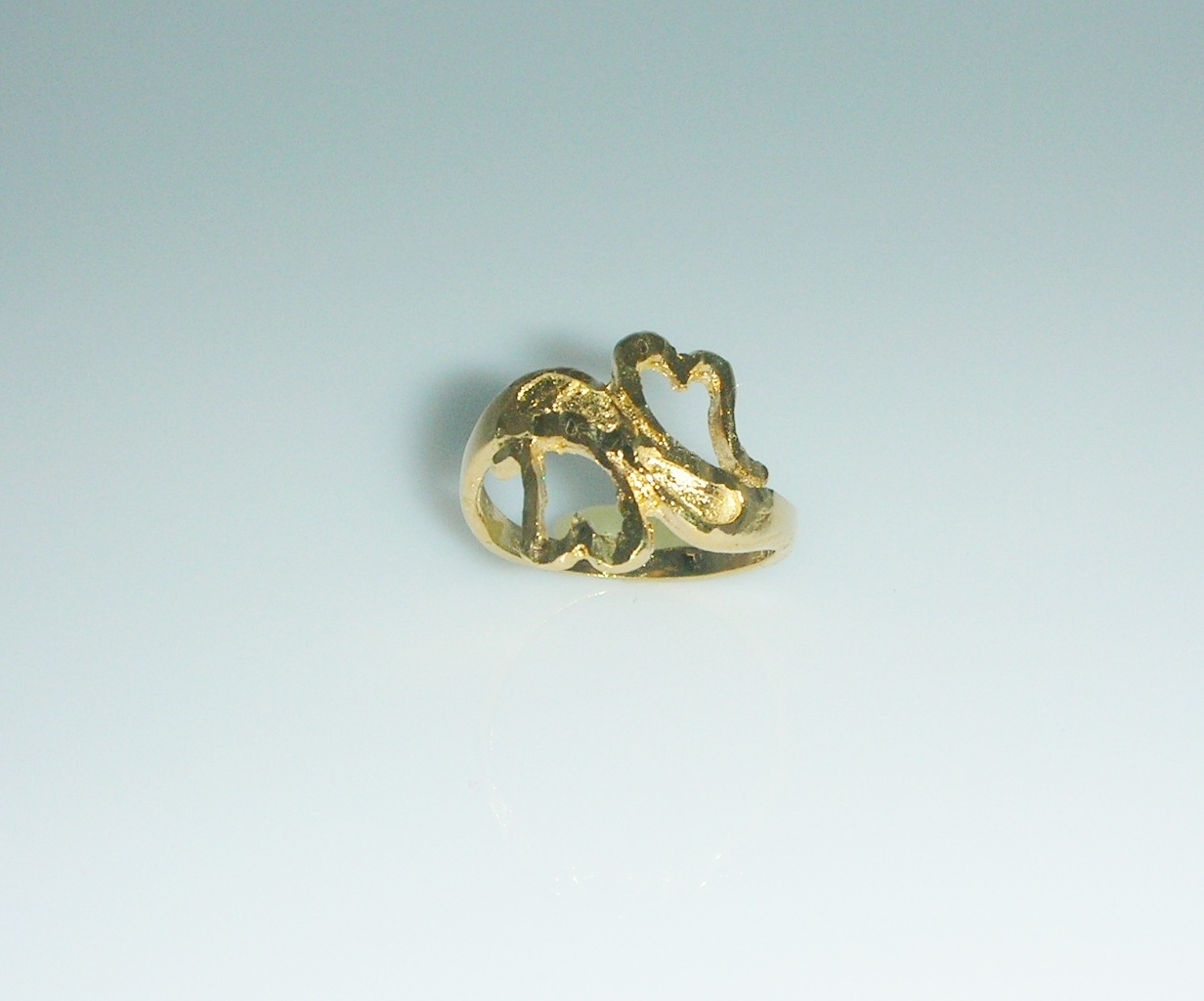 Primary image for Twin Hearts Ring Size 4
